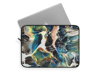 Abstract Marble Laptop or Tablet Travel Sleeve, Multiple sizes