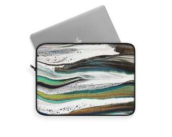 Abstract Waves Laptop or Tablet Travel Sleeve, Multiple Sizes
