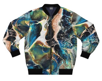 Abstract Marble Unisex Bomber Jacket