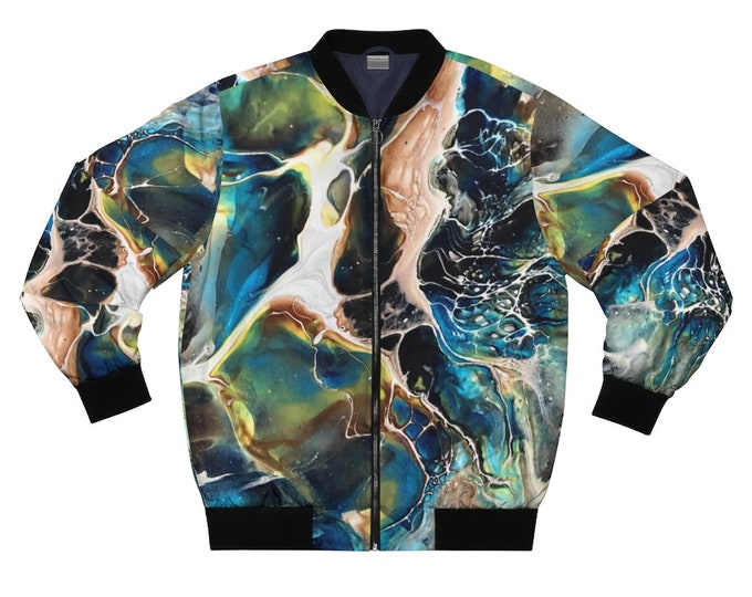 Featured listing image: Abstract Marble Unisex Bomber Jacket