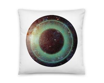 2 Sided Decorative Black Galactic Eye Throw Pillow