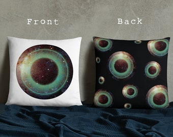 Galactic Eye Decorative Square Throw Pillow Case
