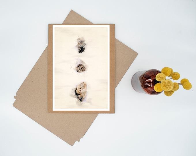 Featured listing image: 3 Stones Digital Watercolor Minimalist Print Wall Art