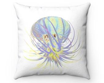 Neon Rainbow Succulent Octopus Pillow Case