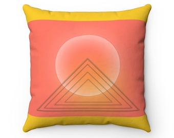Temple of the Sun Decorative Square Throw Pillow Case