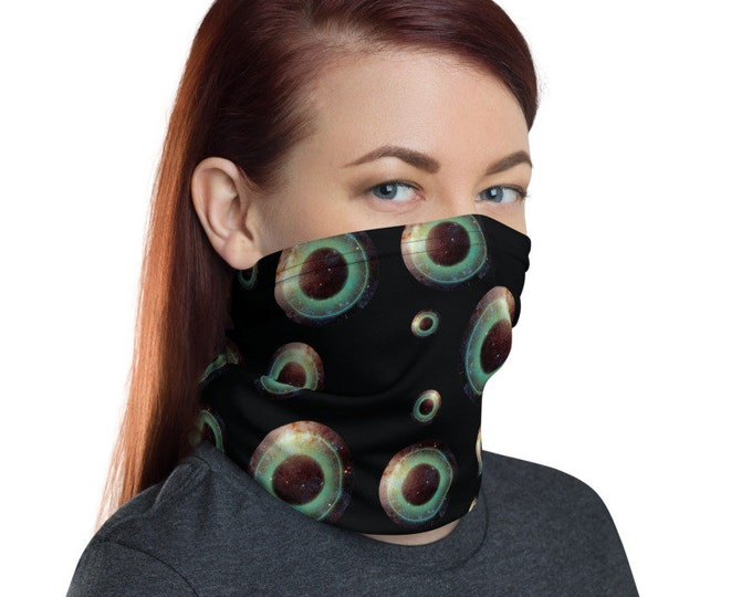 Unisex Trippy Black Hole Black Neck Gaiter/ Face Mask/ Bandana