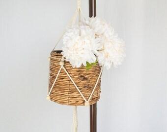 Macrame Plant Hanger with Beads | Indoor Hanging Plant Hanger with Tassel | Hanging Planters | Cotton Rope Flower Pot Holder