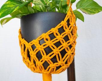 Macrame Plant Hanger | Indoor Hanging Plant Hanger with Tassel | Hanging Planters | Yellow Cotton Rope Flower Pot Holder