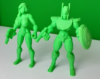 Sexy female figure busty barbarian strong curvy super heroes superhero actionfigure statue Mir Cosmic Soldier