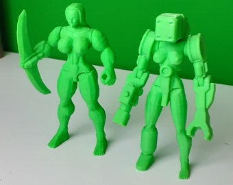Sexy female figure busty barbarian strong curvy super heroes superhero actionfigure statue slice technoroid