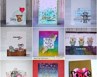 Love Card, Friendship Card,  Valentine Card , For Her, For Him, Love you card, handmade cards, greeting cards in Belgium, i love you , Love