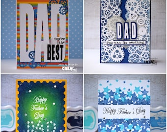 Father's Day card, Handmade cards for dad, cards for dad, Love you dad, Father's Day, greeting cards in belgium, belgie, dad greeting cards