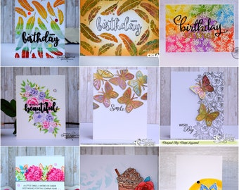 Handmade Birthday Card, Birthday Card, Flower Birthday Card, Butterfly card, Feather card, For Friend, greeting cards in Belgium, Birthday