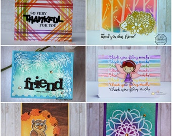 Thank You Card, Thanks, Handmade Card,  For Her, For Him, For Friend, greeting cards in Belgium, Thank you, thankful, Belgie, dankeskarte