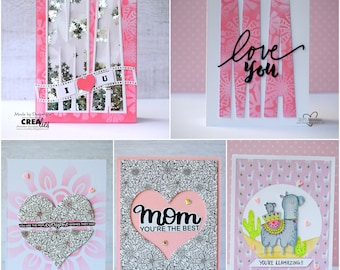 Mother's Day card, Handmade cards for Mom, cards for Mum, Love you Mum, Mother's Day, greeting cards in belgium, belgie, Mum greeting cards