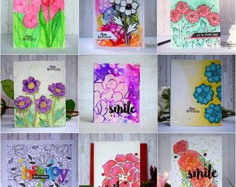 Handmade Birthday Card,Birthday Card,Flower Birthday Card, Flower cards,For Friend, For Her,For Him, Blumen Karte, greeting cards in Belgium