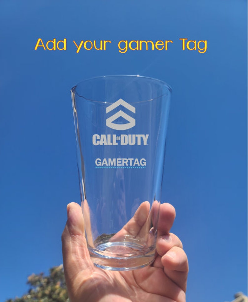6. Call of Duty Personalized Deep Engraved Pint Glass
