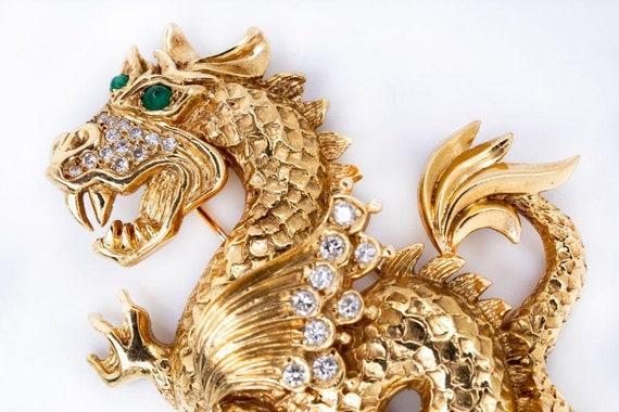 Van Cleef & Arpels Dragon 18K Yellow Gold Diamond