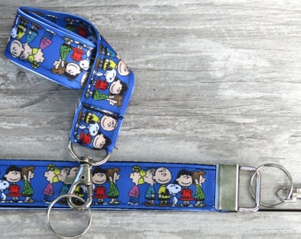 Cute Snoopy Peanuts Acrylic ID Badge Lanyard Card Holder Case c//w Neck Strap