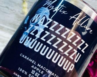 Wazzzzzzzzzzzuuuuppppp | Caramel Macchiato apple | 10 oz  Soy Wax Candle