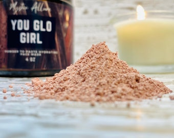 YOU GLO GIRL | Hydrating face mask | Powder to paste mask - just add water !