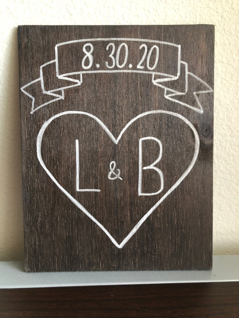 Heart and Banner couple art image 0