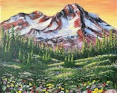 Magnificent Mountain Meadow: Art card reproductions of an original acrylic painting by Canadian artist, Heather Sinton