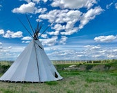 Blackfoot Tipi in Lethbridge, Canada: Blank (or add your greeting) Photo Greeting Card; order single or boxed gift sets; free delivery