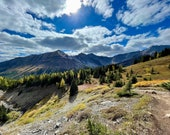 Highwood Mountain Card: This photo card features the Highwood Pass in Kananaskis Country in Alberta, Canada