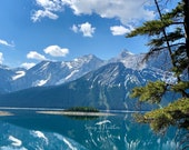 Upper Kananaskis Lake, Alberta, Canada: A Blank Photo Greeting Card. Order blank cards or add your own greeting inside for free!