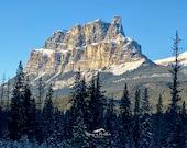 "Castle Mountain, or ""Miistukskoowa"", Banff National Park, Canada: A Photo Greeting Card"