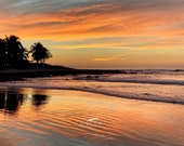 Sunset on a Mexican Beach: Blank (or add your own greeting for free) Photo Greeting Card; single or boxed sets of cards