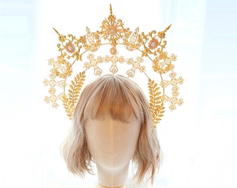 Lolita hairband,Halo Crown,sunburst crown, cosplay headpiece,Halo Crown,DIY Kit,bridal headband