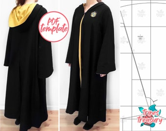 Wizard robes/cloak sewing pattern! Instant digital download!
