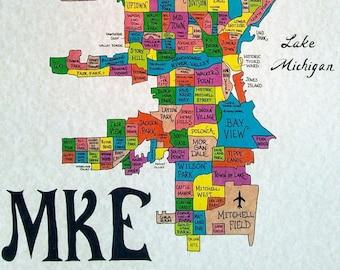 Milwaukee neighborhoods map