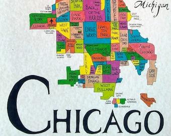 Chicago neighborhoods map