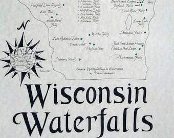 Wisconsin Waterfalls map