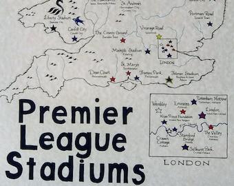 Premier League Stadiums map