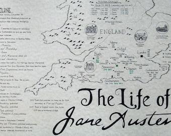 Jane Austen map