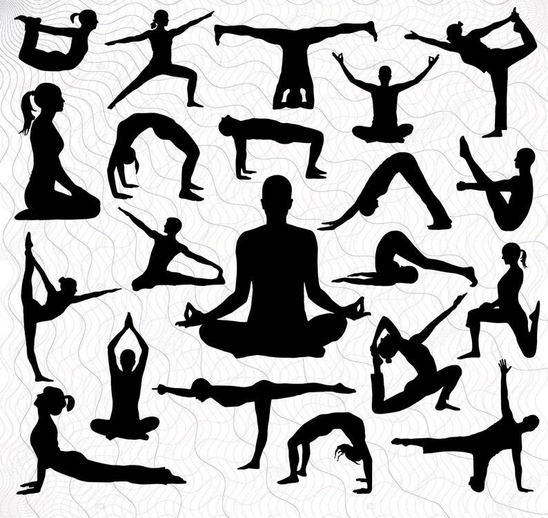Yoga Lotus Files for Cricut Png,Eps Yoga Pose Clipart Yoga Poses Cut Files For Silhouette Svg Yoga People Vector Yoga SVG Bundle Dxf