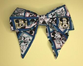 Retro Neon Mickey Comic Strip Hair Bow Clip - Disney Inspired
