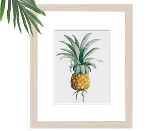 Pineapple Watercolour Art Print