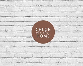 """Dollhouse Brick Wallpaper 1/12 Farmhouse Modern Miniature Roombox Printable Download 8.5 x 11"""" and 11 x 17"""" and A4 and A3 Sheets"""