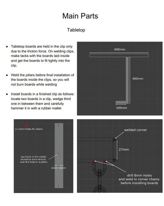 Tensegrity Table Stable Diy Instructions Pdf File Etsy