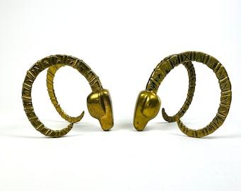 Dolbi Cashier Brass Ibex Bookends - 1980