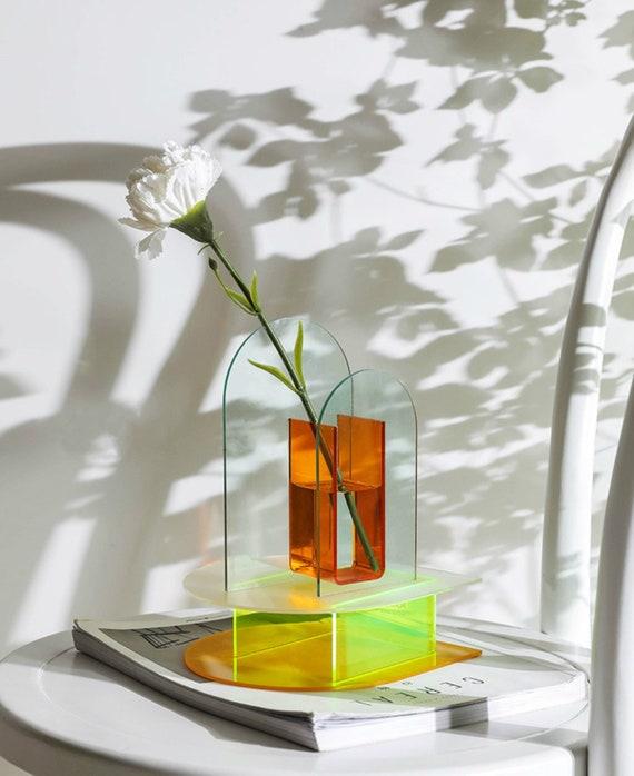 Arch Vase Acrylic Plastic Glazing Vase Clear Minimalist Etsy