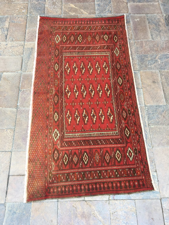 turkish small carpet 4.2x2.7 feet 128x80 cm free shipping natural colors red and blue carpet handmade carpet