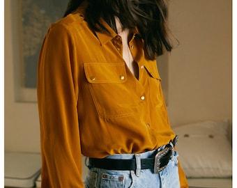 100% pure silk long sleeve shirt /women silk blouse /top/women work outfit