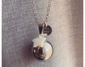 Bola's personalized mini pregnancy we name minnie mom engraved mother-of-pearl gift pregnant breastfeeding mother's future pink silver mom