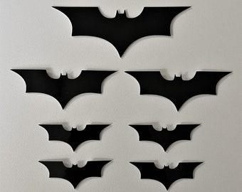 Batman Logo Dark Knight 3M Reflective Stickers Decals Reflector Pack   Stealth Black Color